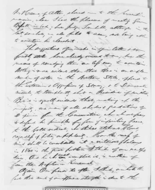 Schuyler Colfax to Abraham Lincoln, Thursday, July 14, 1859  (with clipping)