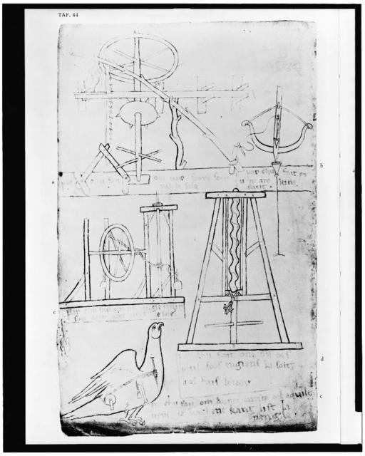 [Sketches of various mechanical devices]