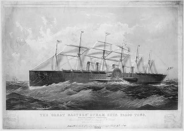 "The ""Great Eastern"" steam ship, 22,500 tons"