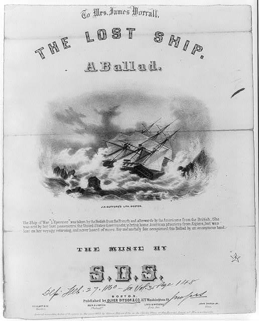 The lost ship - a ballad / J.B.N. ; John Bufford's Lith. Boston.