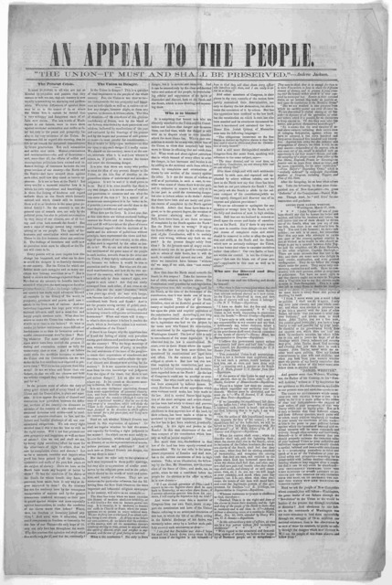The Union and the Constitution. Public meeting in Faneuil Hall, Boston, Dec. 8, 1859. Speeches of Hon. Levi Lincoln, Hon. Edward Everett, Hon. Caled Cushing, and letter of Ex-President Pierce. [Boston? 1859?].