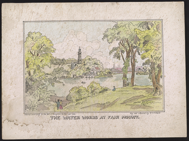 The water works at Fair Mount / eng. and coloured by R.H. Filbert.