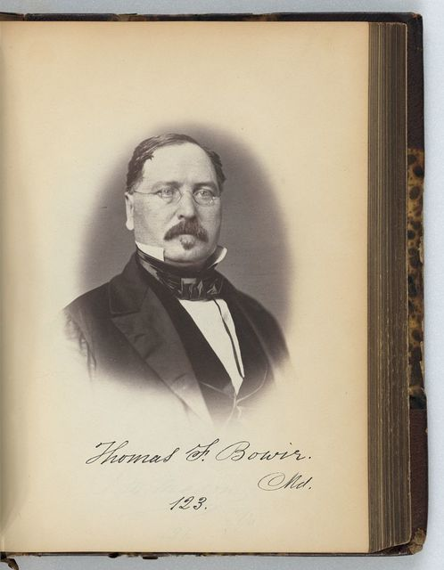 [Thomas F. Bowie, Representative from Maryland, Thirty-fifth Congress, half-length portrait]