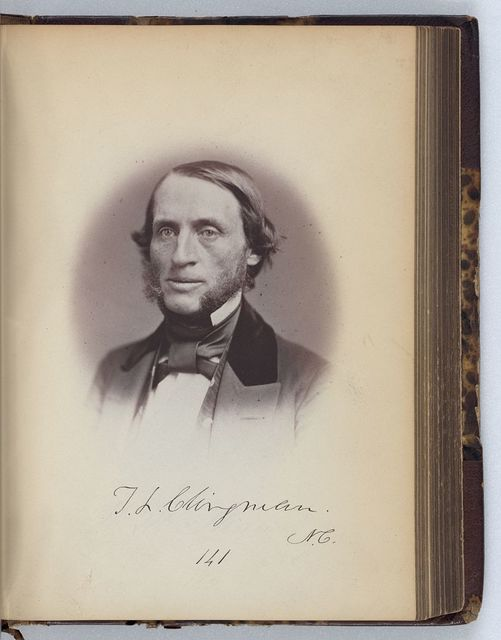 [Thomas L. Clingman, Senator from North Carolina, Thirty-fifth Congress, half-length portrait]