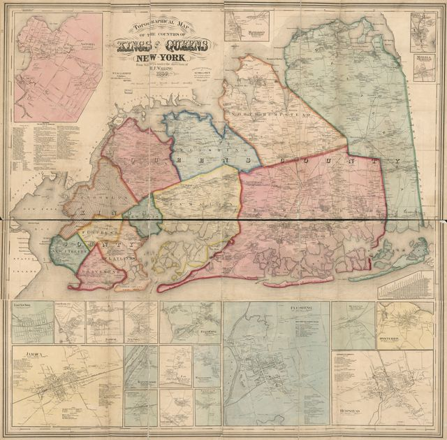 Topographical map of the counties of Kings and Queens, New York /