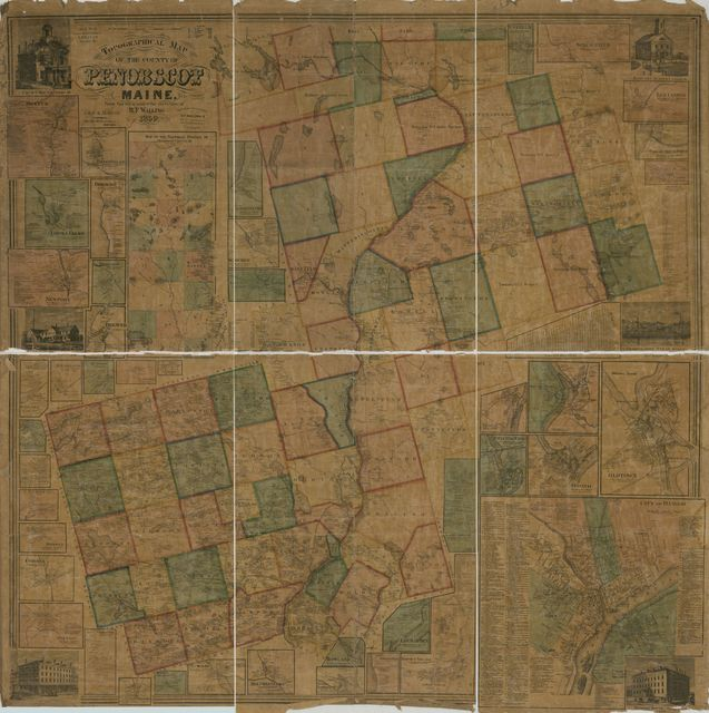 Topographical map of the county of Penobscot, Maine /