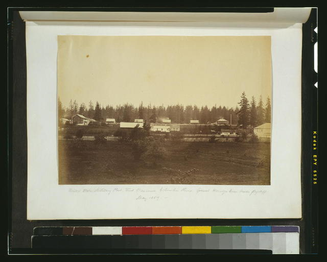 United States military post, Fort Vancouver, Columbia River - General Harney's house beside flagstaff, May 1859 [sic]