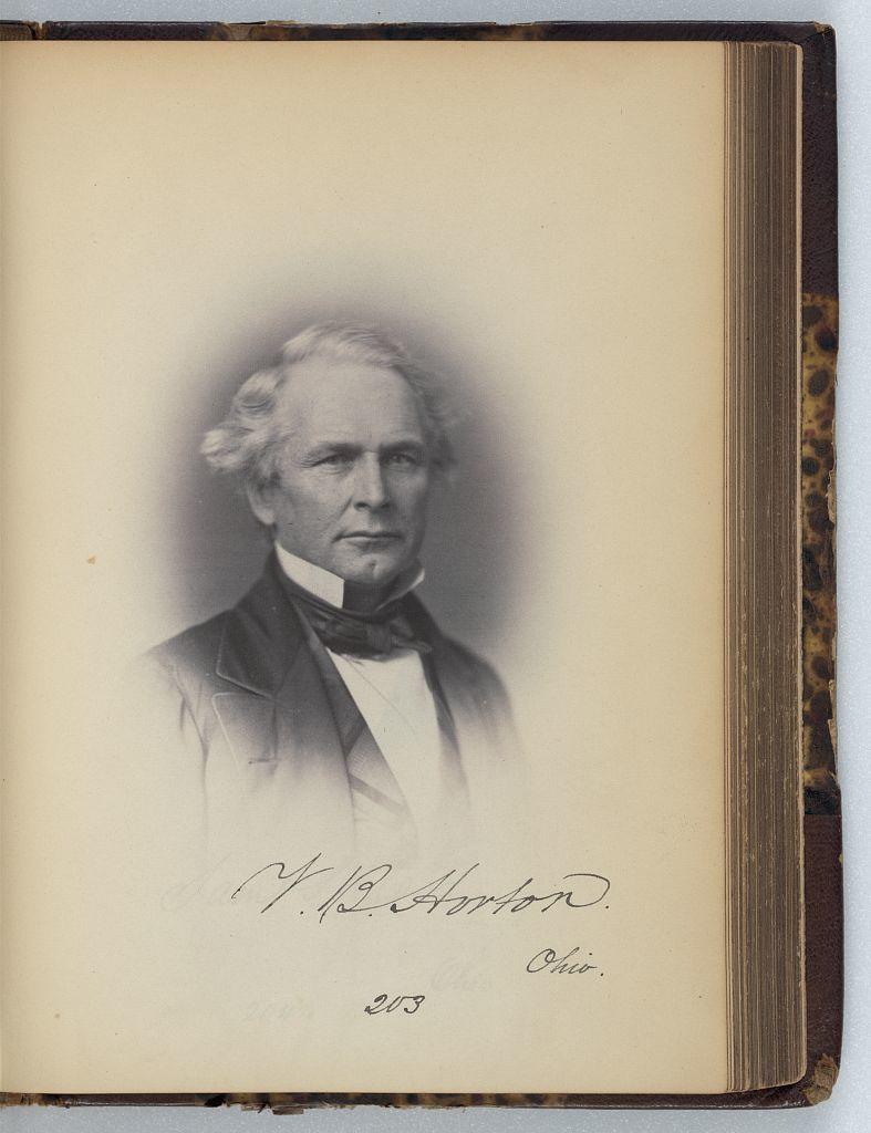[Valentine B. Horton, Representative from Ohio, Thirty-fifth Congress, half-length portrait]