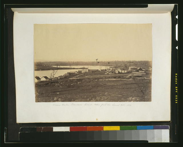 Victoria Harbor, Vancouver Island, taken from the church hill, 1859