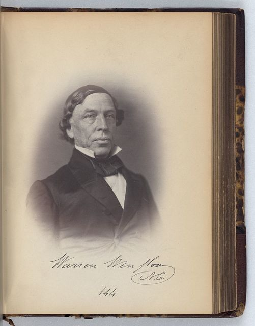 [Warren Winslow, Representative from North Carolina, Thirty-fifth Congress, half-length portrait]