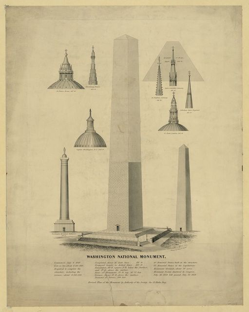 Washington National Monument / drawn by Fred D. Stuart.