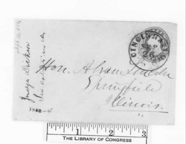William M. Dickson to Abraham Lincoln, Monday, September 26, 1859  (with clipping)