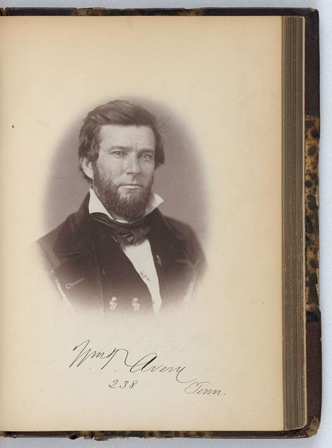 [William T, Avery, Representative from Tennessee, Thirty-fifth Congress, half-length portrait]