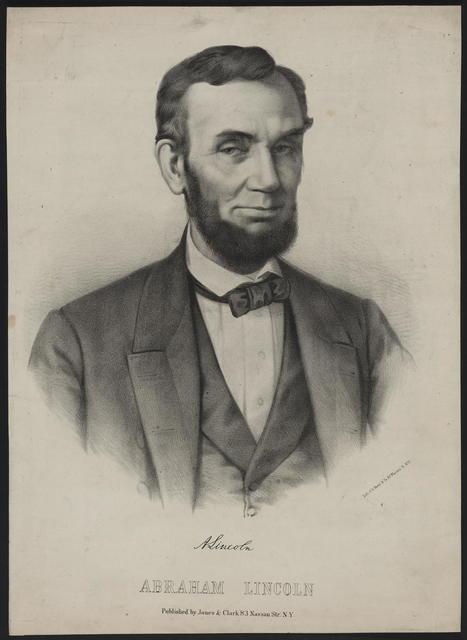 [A. Brett & Co. portrait of Lincoln based on Gardner photograph.].