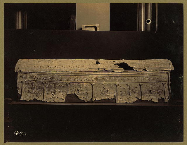 A lead sarcophagus in the Imperial Ottoman Museum, Constantinople