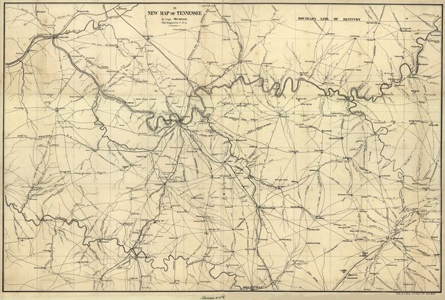 A new map of Tennessee /