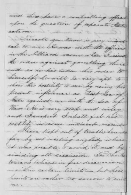 Abner Doubleday to Ulysses Doubleday, Tuesday, September 25, 1860  (Situation in South Carolina)
