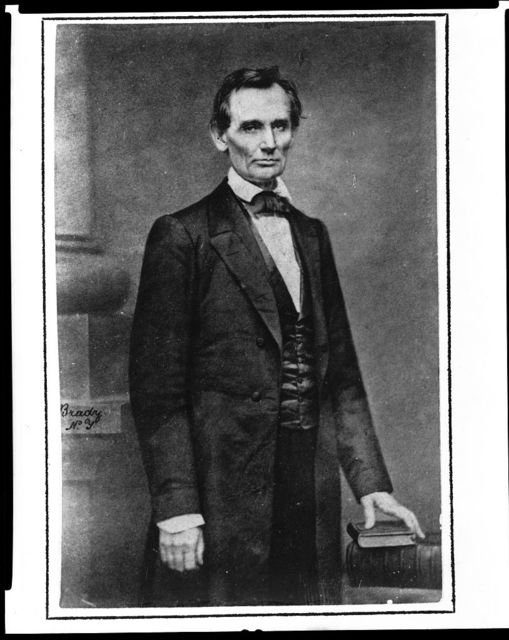 [Abraham Lincoln, candidate for U.S. president, three-quarter length portrait, before delivering his Cooper Union address in New York City] / Brady, N.Y.
