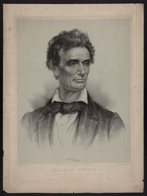 Abraham Lincoln from a portrait taken from life by Charles A. Barry, Springfield, Illinois, June 1860 / on stone by J.E. Baker ; J.H. Bufford's Lith. 313 Washington St. Boston.