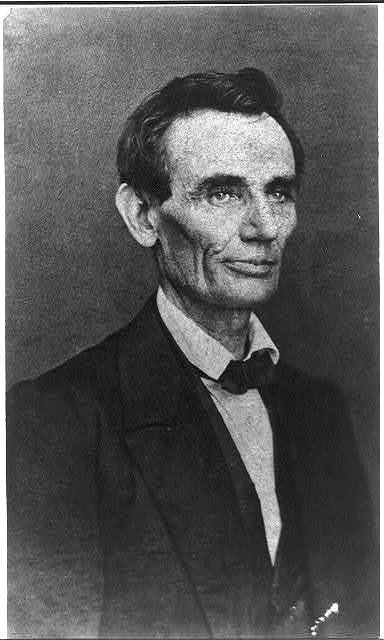 [Abraham Lincoln, half-length portrait, looking right]