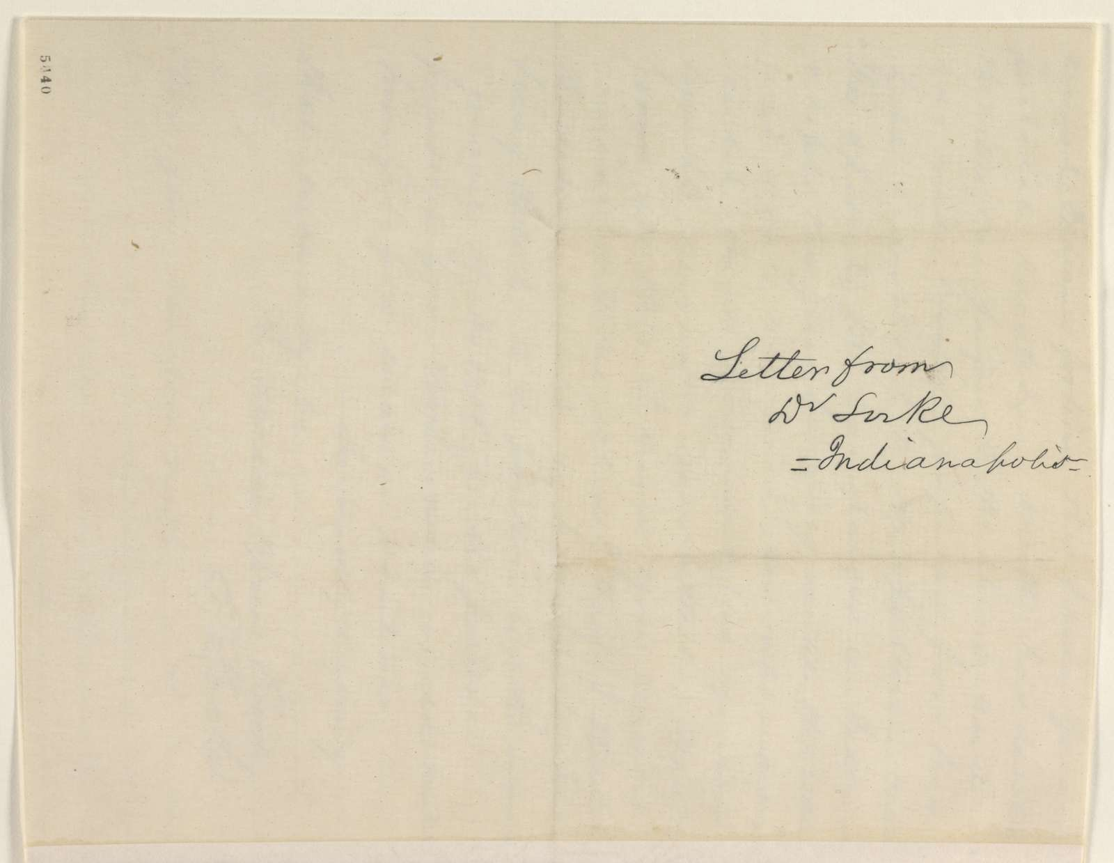 Abraham Lincoln papers: Series 1. General Correspondence. 1833-1916: Eric Locke to David Davis, Wednesday, December 26, 1860 (Recommends Caleb Smith)