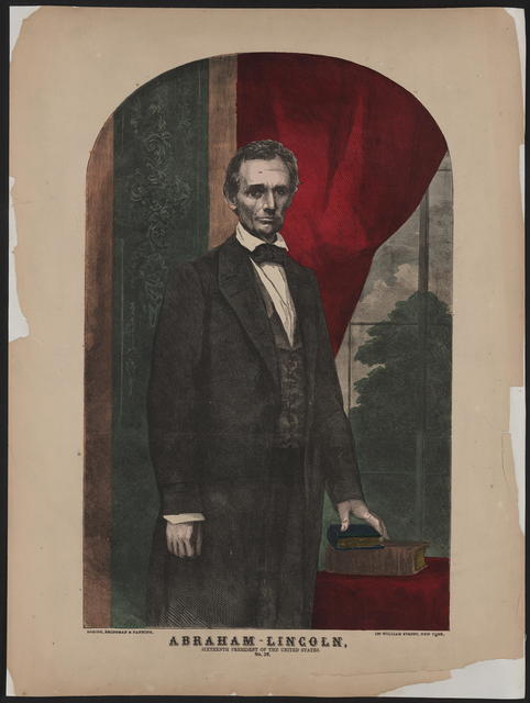 [Abraham Lincoln, sixteenth President of the United States based on a Brady photograph.]