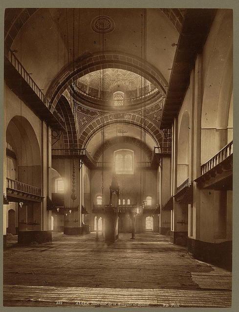 Alger. Intérieur de la Mosquée el-Djedid / ND. Phot.