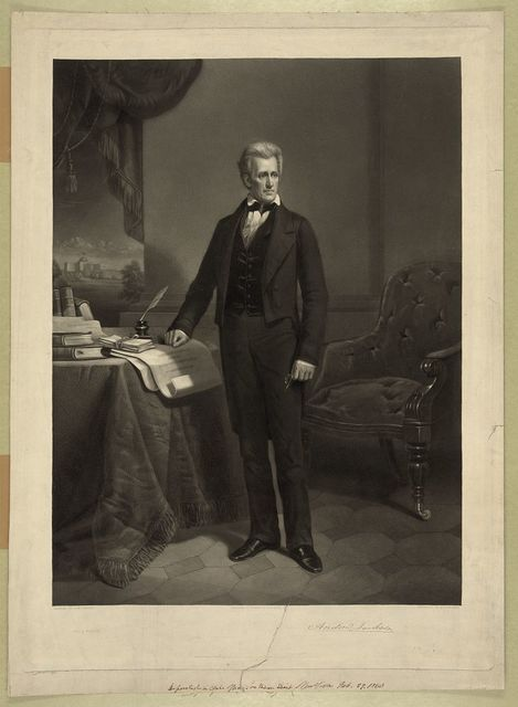 Andrew Jackson / painted by D.M. Carter ; engraved by A.H. Ritchie.