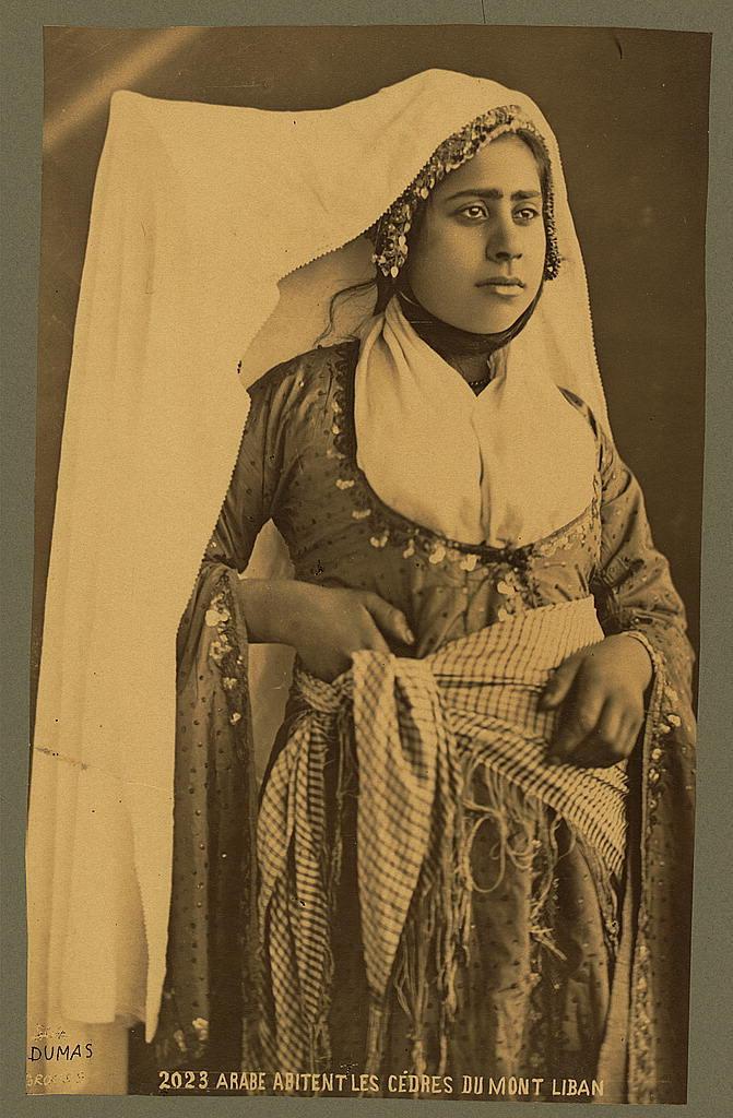 Arabe abitent les cédres du mont liban / Dumas.