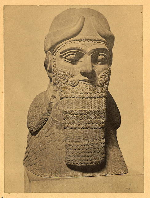 Assyria - Head of Portal Guardian from Nimroud. British Museum