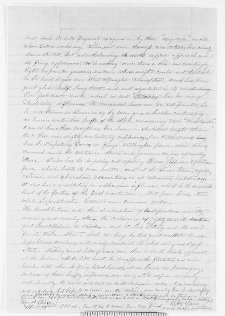 B. F. Lemen to Abraham Lincoln, Sunday, April 01, 1860  (Cooper Union)