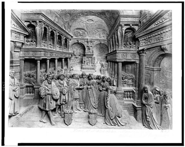 [Bas-relief from the tomb of Maximilian I, depicting the marriage of Maximilian and Maria of Burgundy