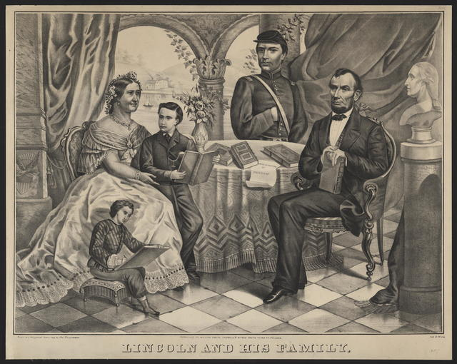 [Biegmann portrait of Lincoln and his family.]