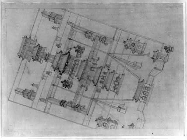 [Bird's-eye view of the Mukden Palace]
