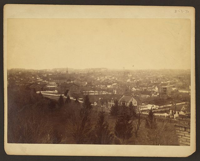 [Bird's-eye view of unidentified city]