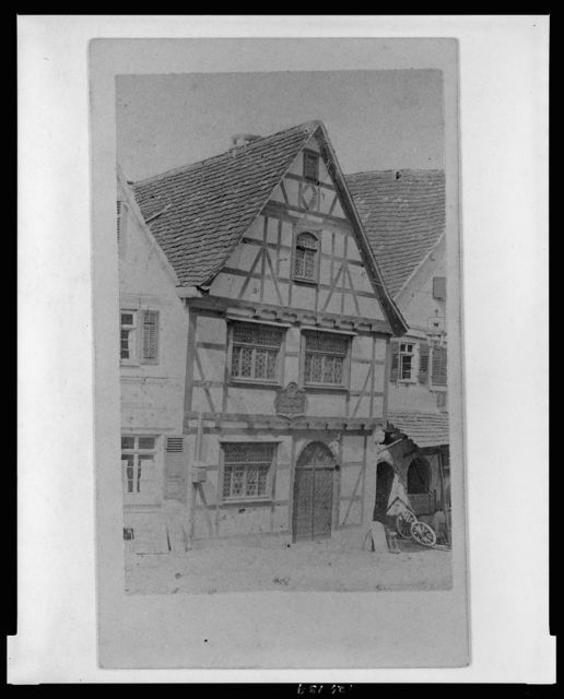 [Birthplace of German dramatist Friedrich Schiller in Marbach am Neckar]
