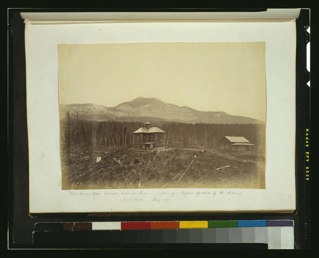 Block house, upper Cascades, Columbia River - scene of a massacre of whites by the Indians, view taken May 1860