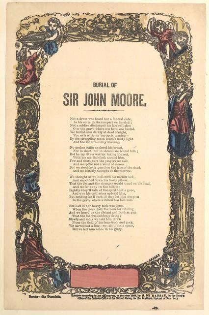 Burial of Sir John Moore. H. De Marsan, Publisher, 38 Chatham St. N. Y. [c. 1860]