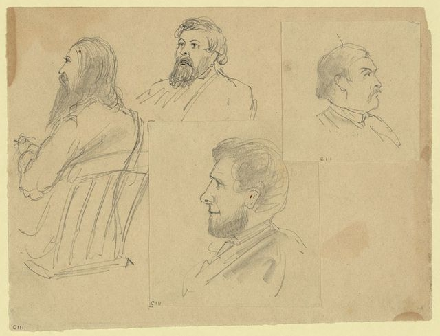 [Bust portraits of four men including Colonel Hill of the Athens, Georgia Banner]