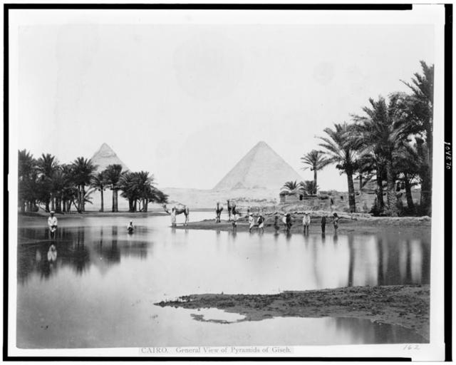 Cairo. General view of pyramids of Giseh