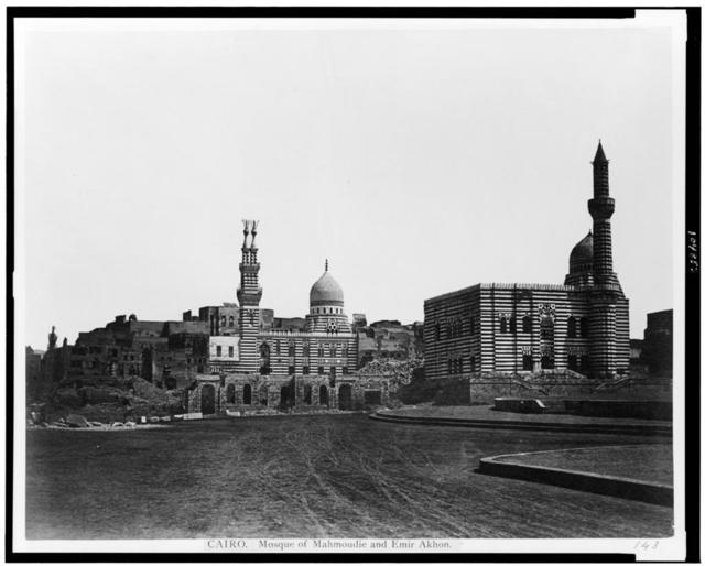 Cairo. Mosque of Mahmoudie and Emir Akhon