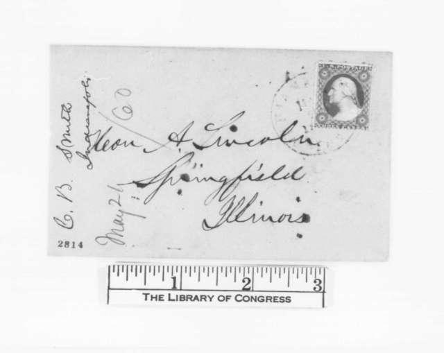 Caleb B. Smith to Abraham Lincoln, Monday, May 21, 1860  (Congratulations)