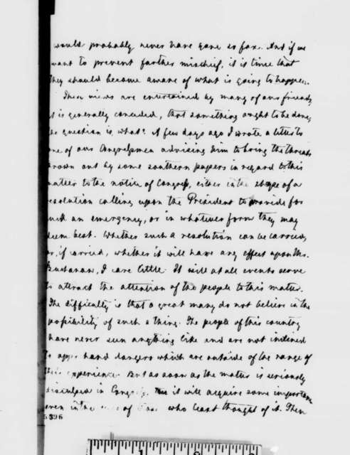 Carl Schurz to Abraham Lincoln, Friday, December 28, 1860  (Secession crisis)