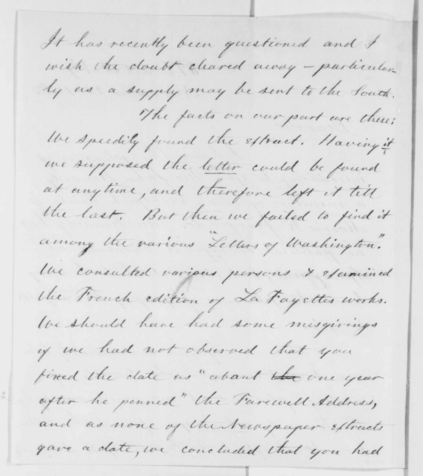 Charles C. Nott to Abraham Lincoln, Tuesday, November 20, 1860  (Introduction and asks question about one of Lincoln's references in a speech)