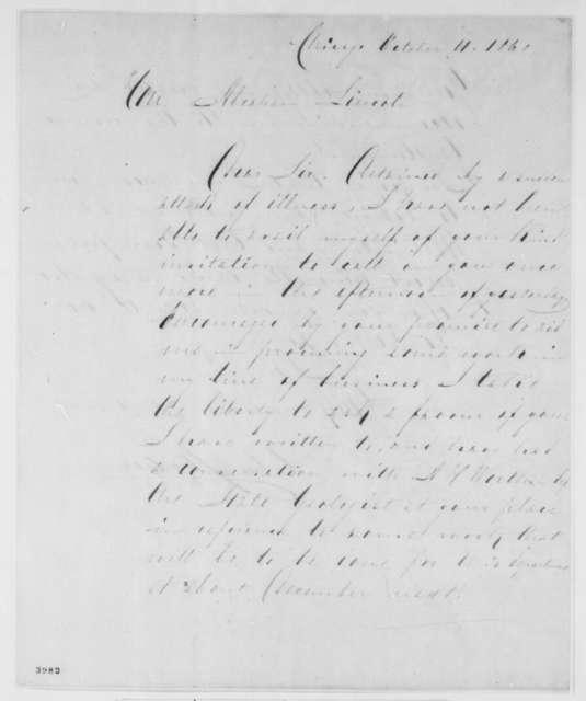 Charles Shober to Abraham Lincoln, Thursday, October 11, 1860  (Seeks recommendation)