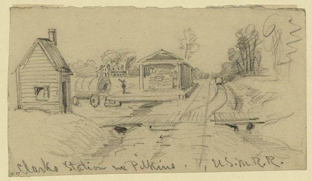Clarks Station nr. Pilkins. U.S.M.R.R