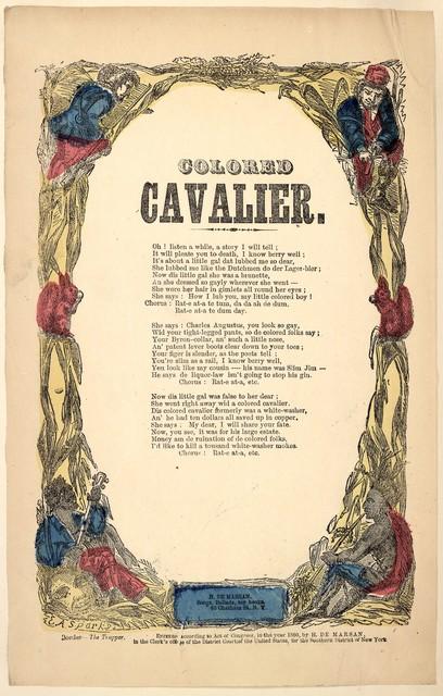 Colored cavalier. H. De Marsan, ... 60 Chatham Street, N. Y. [c. 1860]