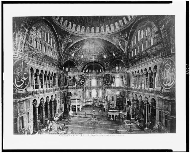 Constantinople. St. Sophia - general view interior