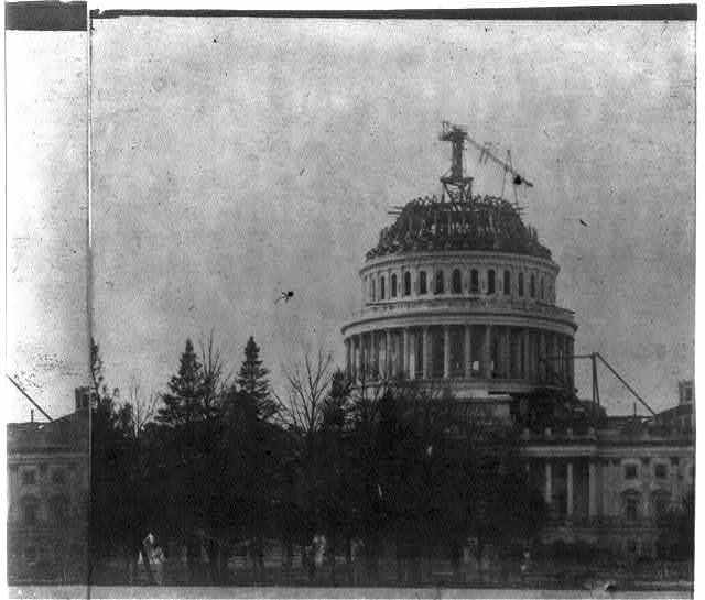 [Construction of the U.S. Capitol Dome]