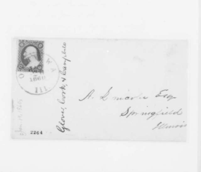 Cook & Campbell Glover to Abraham Lincoln, Thursday, January 19, 1860